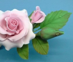 Introduction to wired sugar flowers Rose